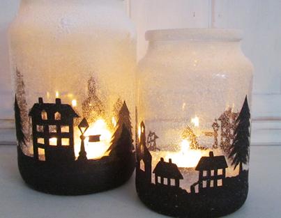 Decoraciones y detalles navide os con tarros de cristal for Donde se compran los vinilos decorativos